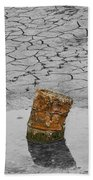 Old Rusted Barrel Abstract Beach Towel
