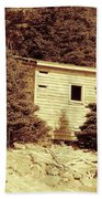 Old Shed Nothing Left But Memories Beach Towel