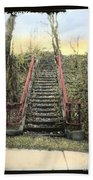 Old Stairs Beach Towel