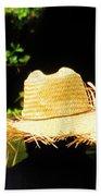 Old Straw Hat Beach Towel