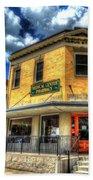 Old Town Bryan Drug Store Beach Towel