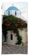Old Town Church Paros Beach Towel
