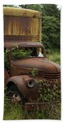 Old Truck In Rain Forest  Beach Towel