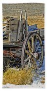 Old Wagon At Bodie Ghost Town Beach Towel