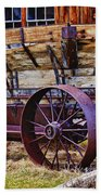 Old Wagon Bodie Ghost Town Beach Towel