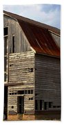 Old Wagon Older Barn Different View Beach Towel