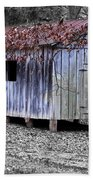Old Weathered Shed Beach Towel
