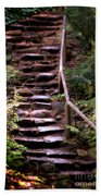 Old Wet Stone Steps Beach Towel