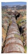 Old Wooden Water Pipeline - Rural Idaho Beach Towel