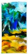 Olive Trees In The Manner Of Van Gogh Beach Towel