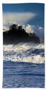 Olympic Ocean Swirls Beach Towel