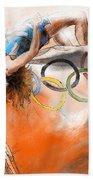 Olympics High Jump Gold Medal Ivan Ukhov Beach Towel