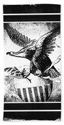 On Eagles Wings Bw Beach Towel