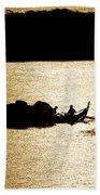 On Golden Waters Beach Sheet