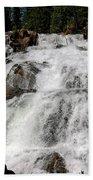 On The Rocks Glen Alpine Falls Beach Towel