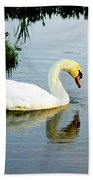 One Foot At Ease Swan Beach Towel