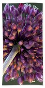 Onion Flower Beach Towel