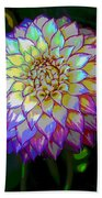 Open For Pleasure Flowart Beach Towel