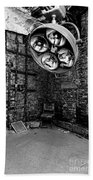 Operating Room - Eastern State Penitentiary - Black And White Beach Towel