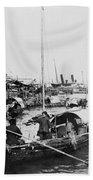Opium Trader - Hong Kong Harbor - C 1901 Beach Towel