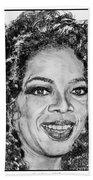 Oprah Winfrey In 2007 Beach Towel