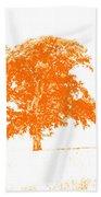 Orange Oak Beach Towel