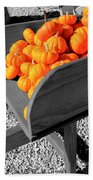 Orange Pumpkin Harvest Beach Towel