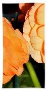 Orange Tuberous Begonias Beach Towel