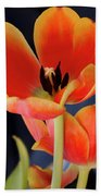 Orange Tulips Beach Towel
