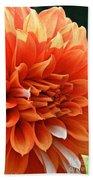 Orange Vanilla Dahlia Beach Towel