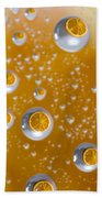 Orange Water Drops Beach Towel