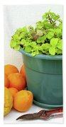 Oranges And Vase Beach Towel