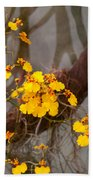 Orchid - Golden Morning  Beach Towel