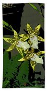 Orchid Trilogy Beach Towel
