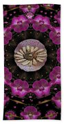 Orchids And Fantasy Flowers Beach Towel