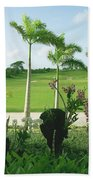 Orchids At Iberostar Golf Course In Punta Cana Dr Beach Towel