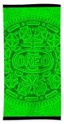 Oreo In Green Beach Towel
