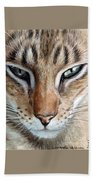 Oriental Cat Beach Towel
