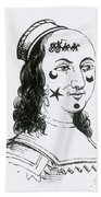 Ornamental Patches On Face, 17th Century Beach Sheet