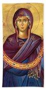 Orthodox Icon Virgin Mary Beach Towel