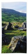 Ossians Grave, Co Antrim, Ireland Stone Beach Towel