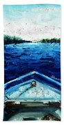 Out On The Boat Beach Towel