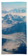 Over Alaska Beach Towel
