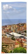 Over The Roofs Of Sanremo Beach Towel by Joana Kruse