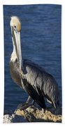 Over The Shoulder Pose Beach Towel