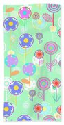 Overlayer Flowers  Beach Towel