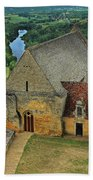 Overlooking The French Countryside Beach Towel