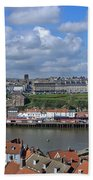 Overlooking Whitby Beach Towel