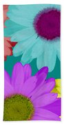Oversize Daisies Two Beach Towel