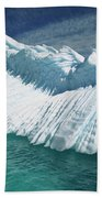 Overturned Iceberg With Eroded Edges Beach Towel